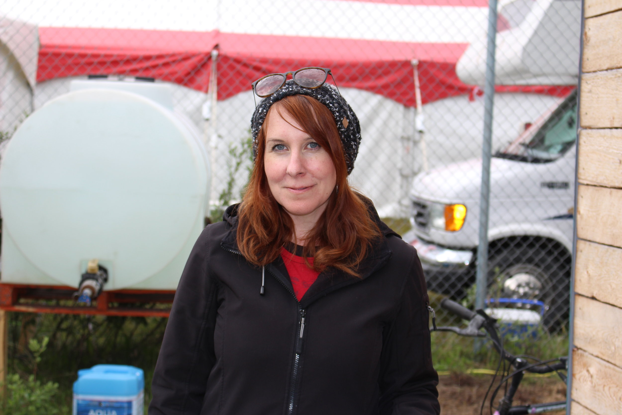 Angela Drainville is in charge of producing the entire Atlin Arts and Music Festival this year. Photo by Amy Burlock