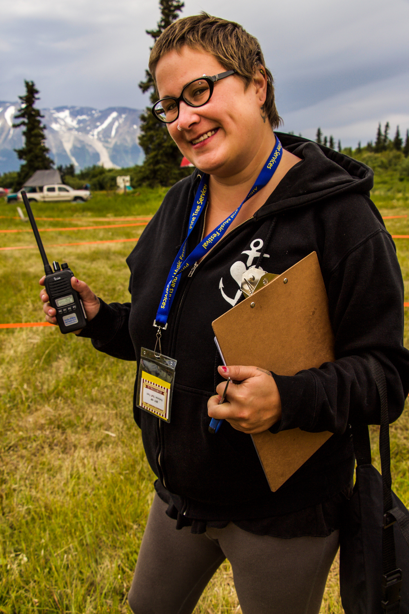 Ciara Stick is the vendors coordinator for the Atlin Arts and Music Festival, ensuring the booths and food trucks are where they need to be and set up at the right time. Photo by Rachel Levy-McLaughlin