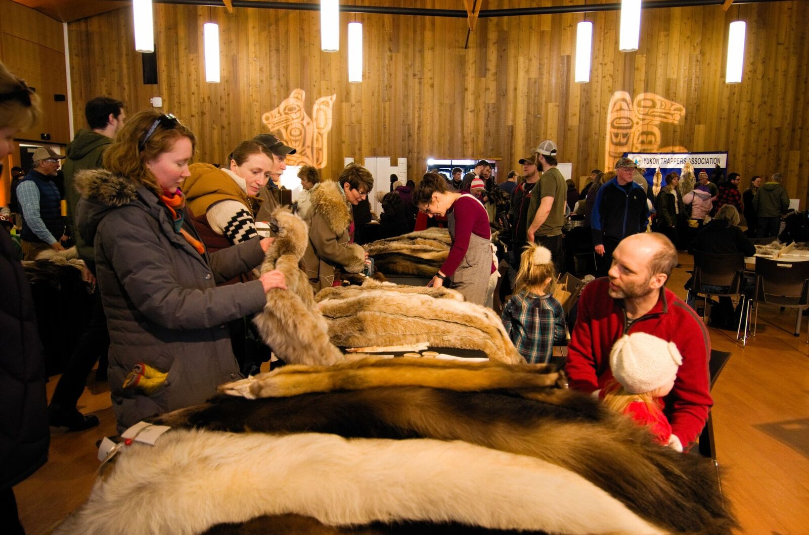 The UnFURled celebration held at the Kwanlin Dün Cultural Centre on March 10 gave trappers a chance to sell their furs to the public. Photo: Christian Kuntz