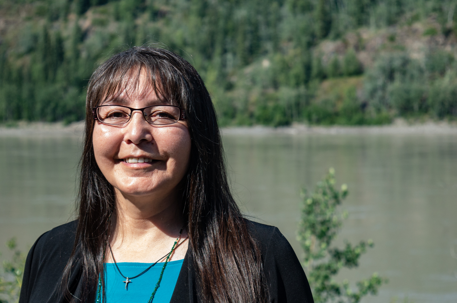 Roberta Joseph is chief of the Tr'ondek Hwech'in First Nation. She says salmon holds high spiritual value for her people. Photo by Reina Cowan