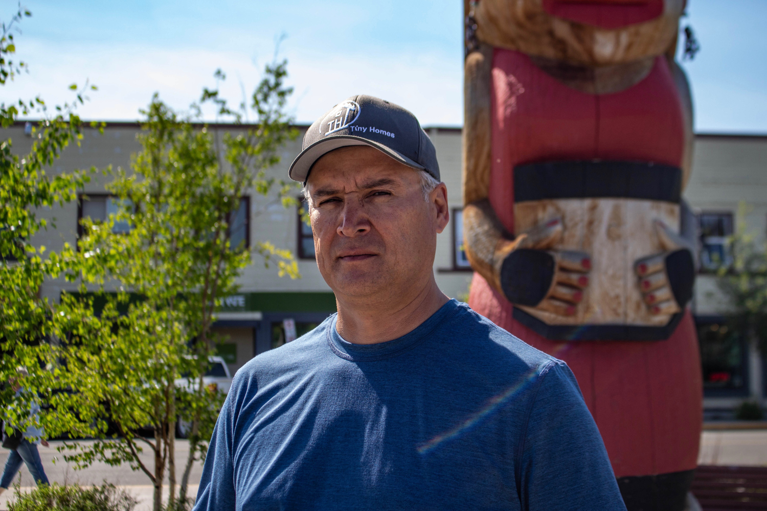 Nelson Lepine is the CEO of the management corporation that oversees the stewardship program. He says his desire to help First Nations people was inspired by the foster family that helped him by taking him in when he was young. Photo by Madeline Lines.