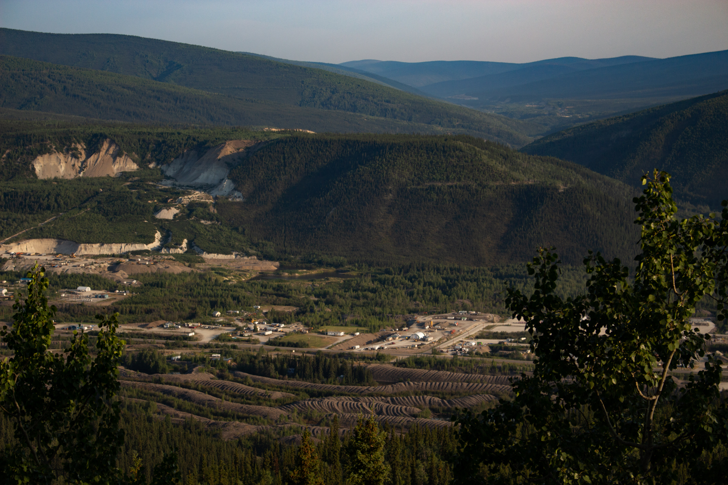 A view from the top of Dawson City's Midnight Dome overlooking the historic gold rush town. Photo by Caroline Mercer