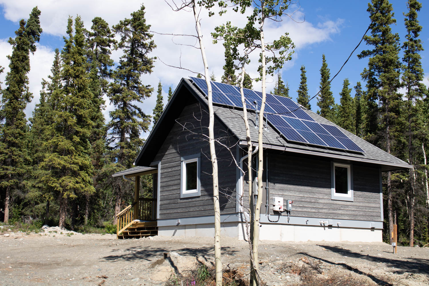 The newest phase of tiny homes in Carcross are slightly bigger than their predecessors, and are equipped with solar panels for better energy efficiency. The two-bedroom units are also outfitted with an optional wood-burning stove.""