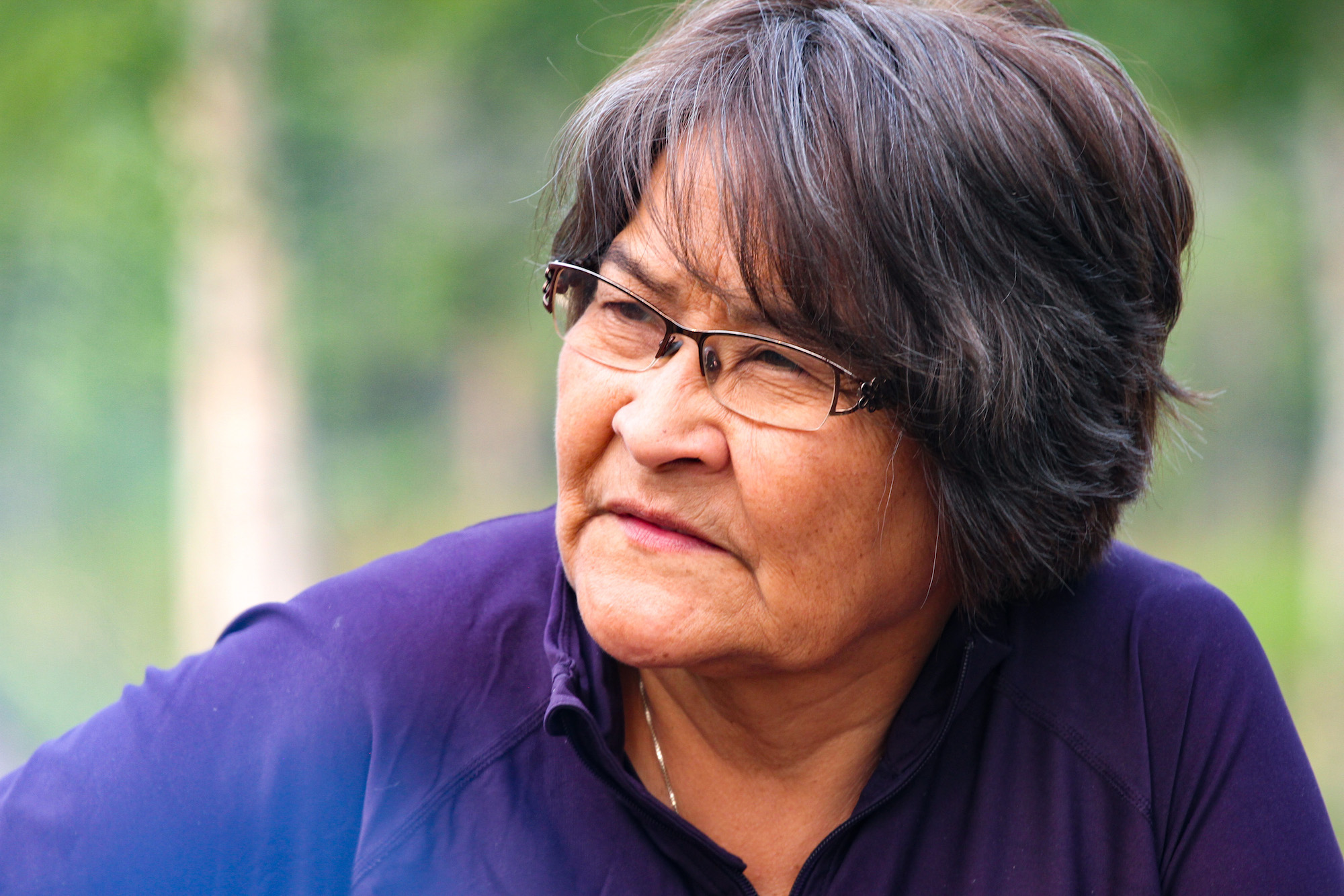 Louise Creyke, born and raised in Old Crow, can attest first-hand to the trauma caused by the residential school system. (Photo: Meaghan Brackenbury)