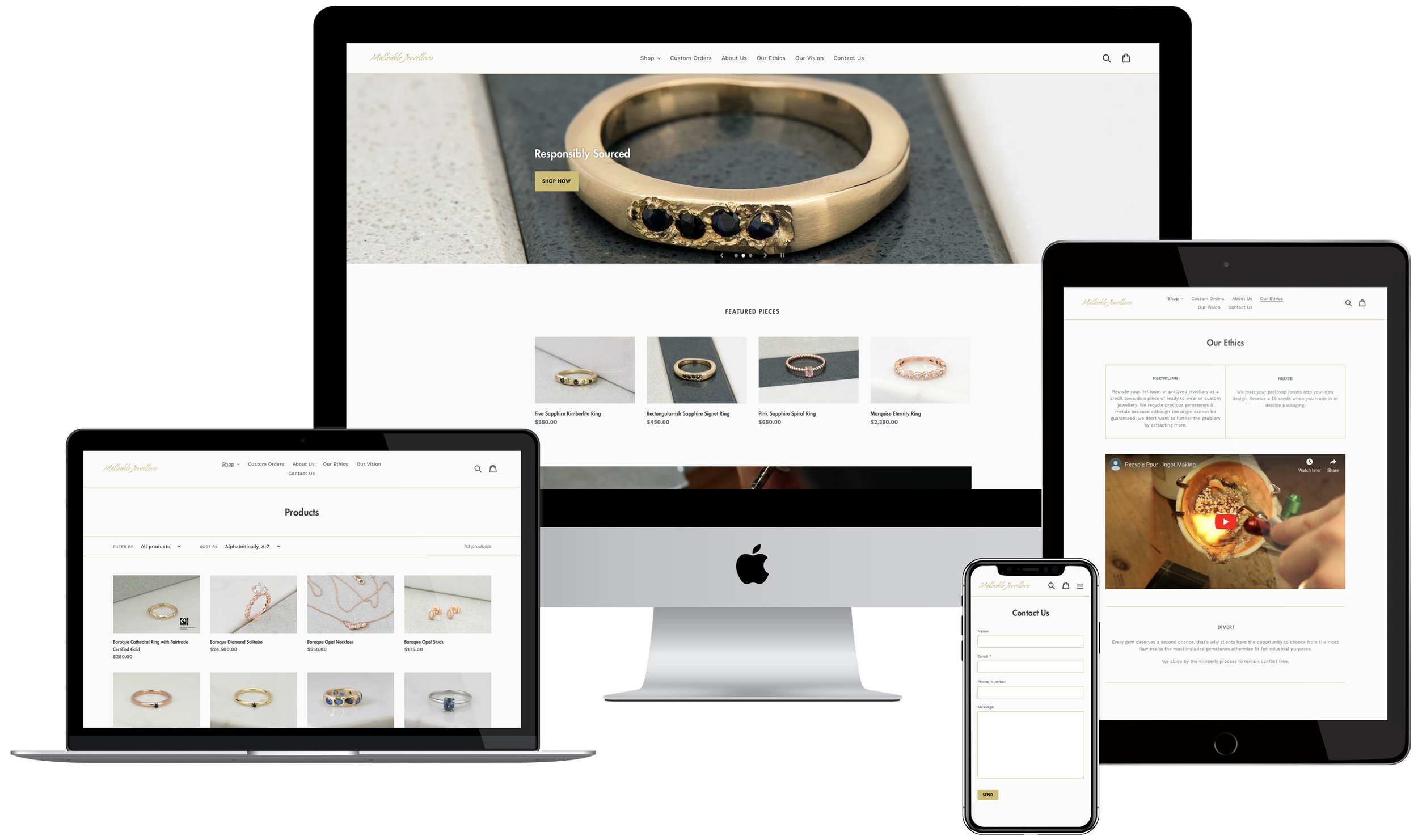 Malleable Jewellers → Fair Trade Jewellery Designers