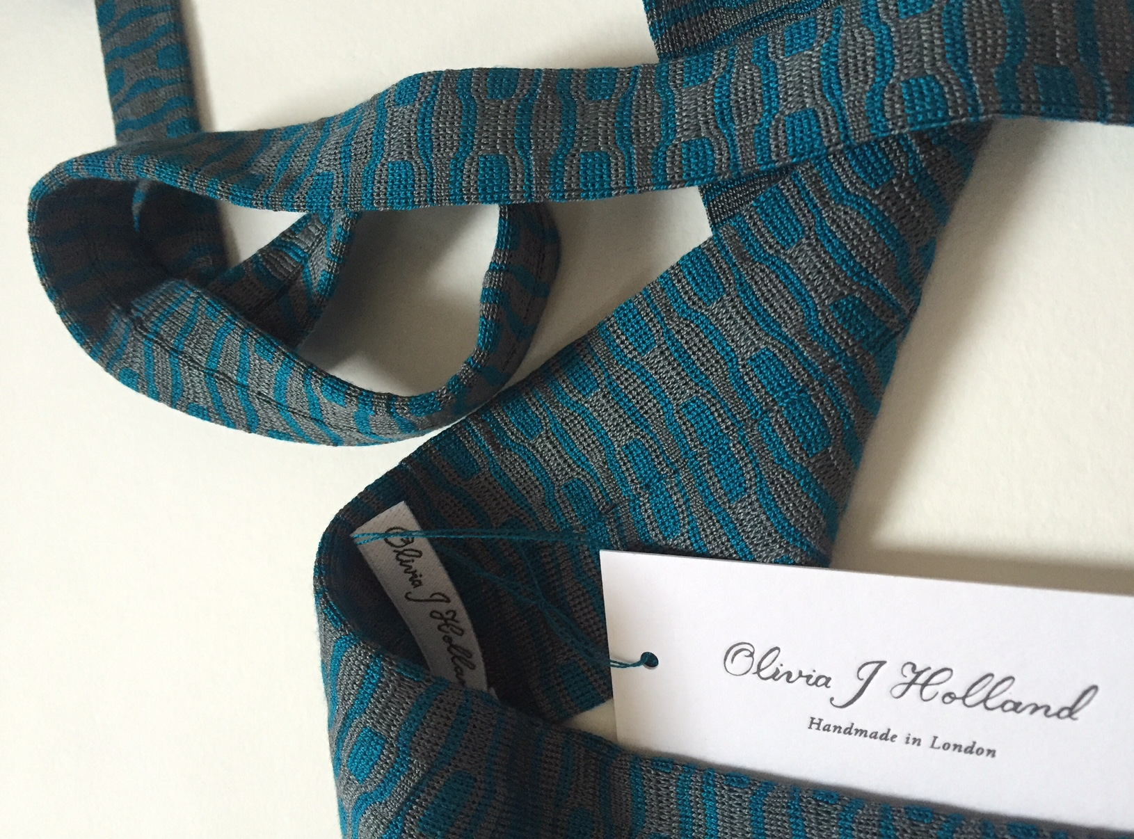 100% Silk Knitted Tie for a wedding guest.