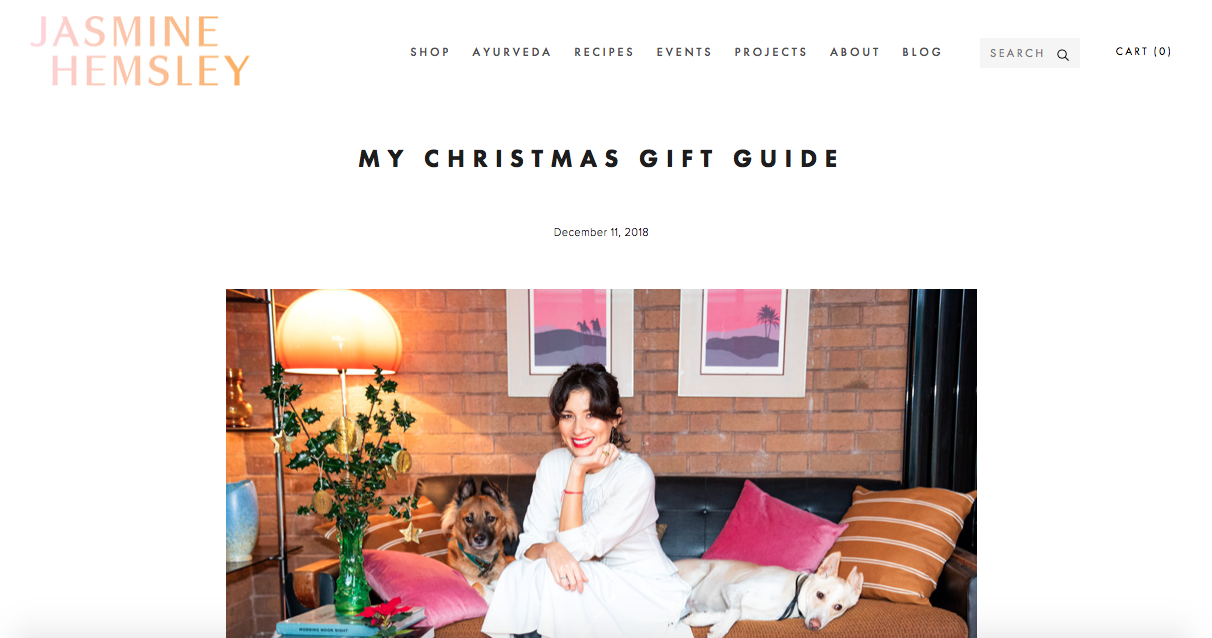 Featured in Jasmine Hemsley's Christmas gift guide 2018 - View the full list here.
