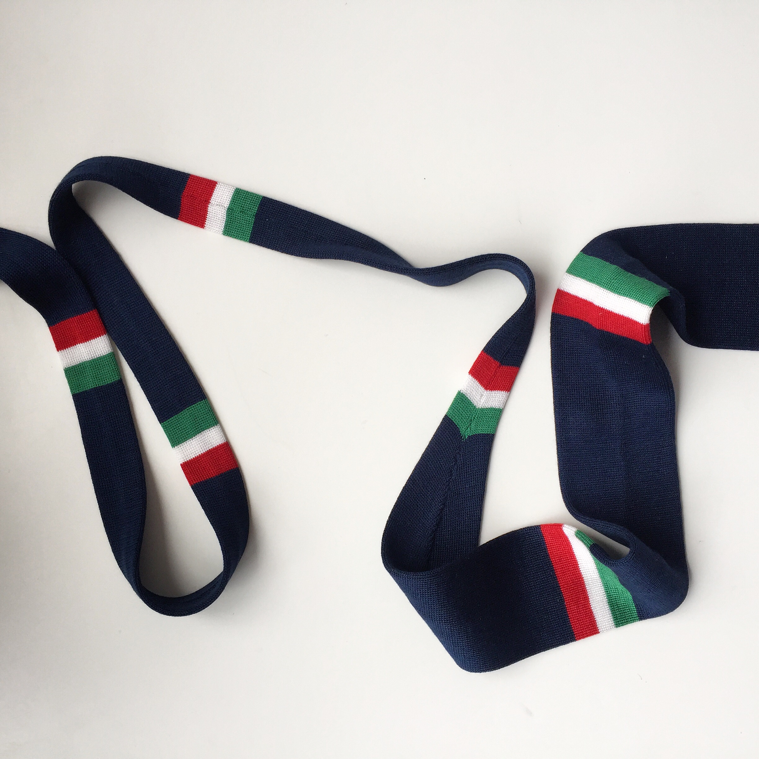 Bespoke silk tie for a client to reflect his career in the Merchant Navy,