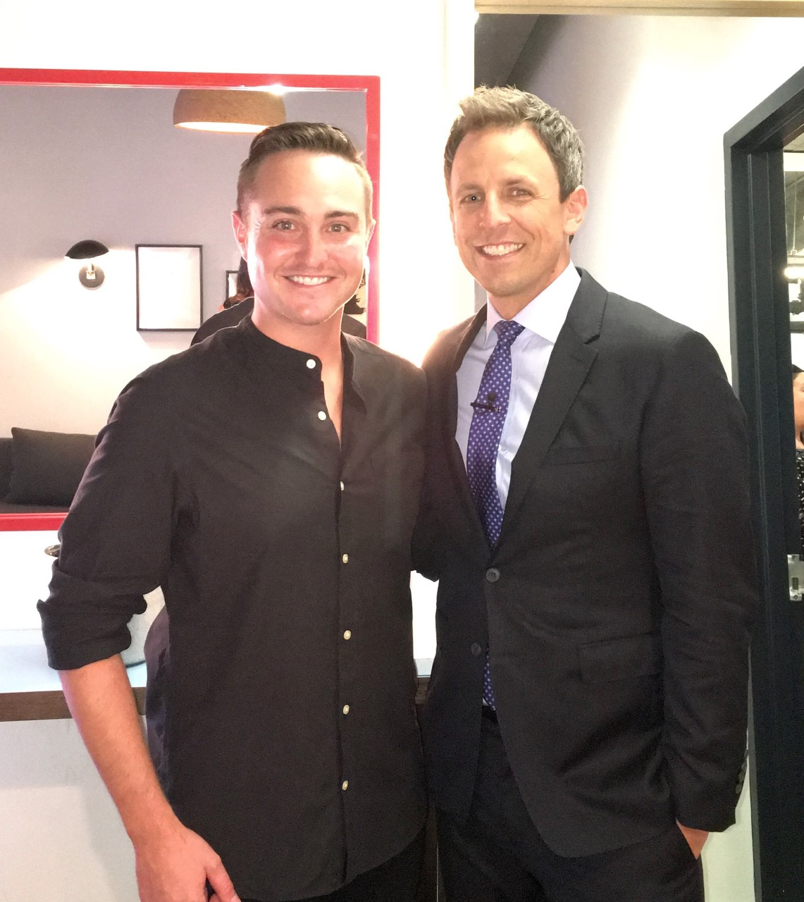Backstage with Seth before the show.