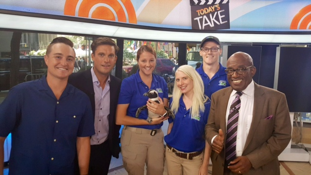 "Pictured in the familiar ""Home Base"" area on the set of  The Today Show  in Studio 1A."