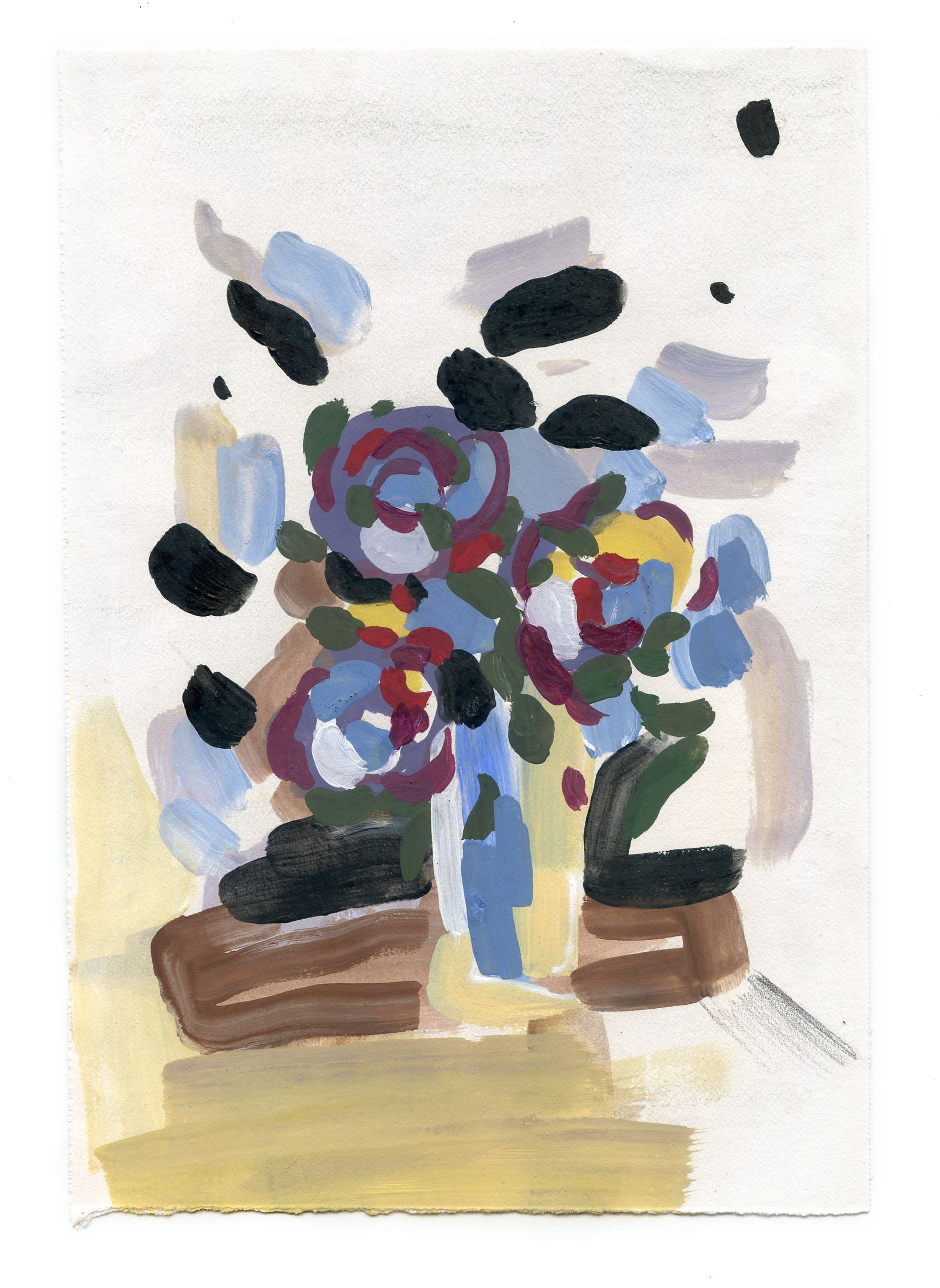 Gouache on paper, 2015 8 x 6 inches