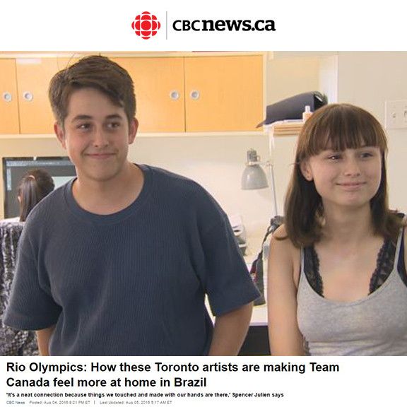 CBC News - August 2016Rio Olympics: How these Toronto artists are making Team Canada feel more at home in Brazil