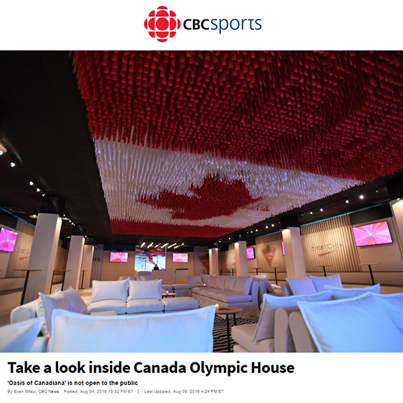 CBC Sports - August 2016Exclusive look inside Canada House