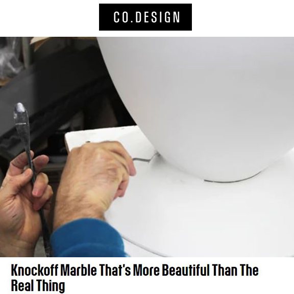 CO.DESIGN - July 2016Knockoff Marble that's more beautiful than the real thing.