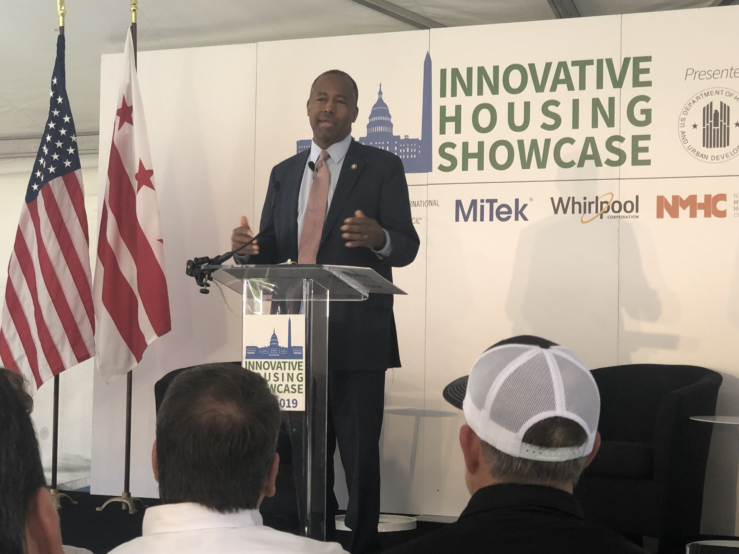 United States Secretary of Housing and Urban Development (HUD), Ben Carson, highlighting the importance of innovation and preparedness in the nation's affordable housing crisis on Monday's event.
