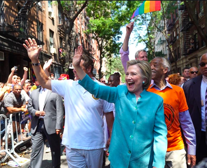 Hillary pic via Hillary Clinton @Facebook