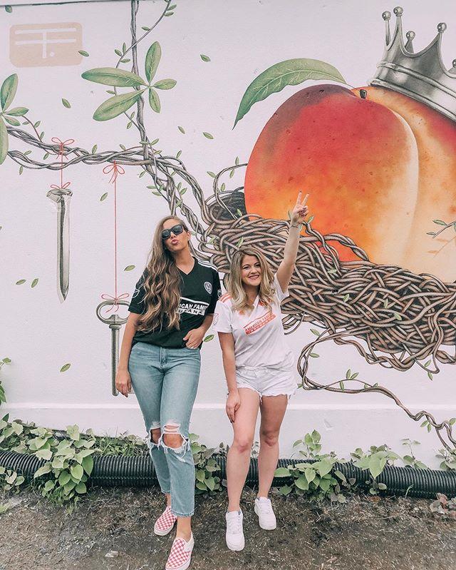 VAMO ATL 🍑👑⚽️ Fav mural in the A right now #kingpeach #atlutd