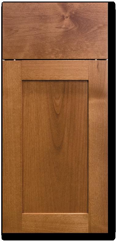 Kahala - Clear Alder with Chocolate Brandy Stain Wood Door