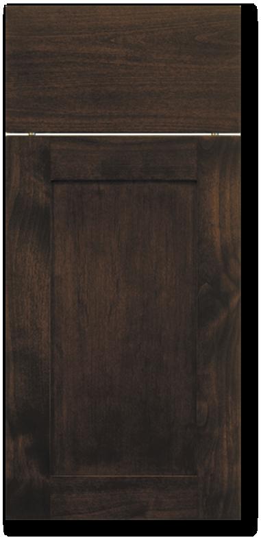 Kahala - Clear Alder with Espresso Stain Wood door