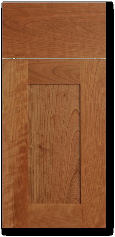 Kihei - Cherry with Clear varnish wood door