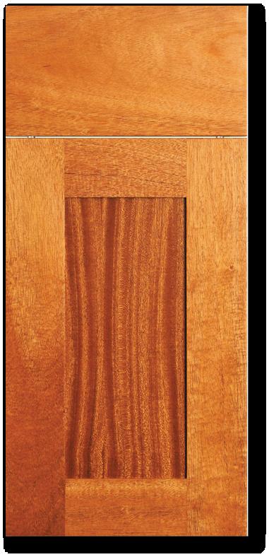 Kona - African Mahogany with clear varnish wood Door