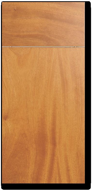 Manoa - African mahogany flat sliced veneer door