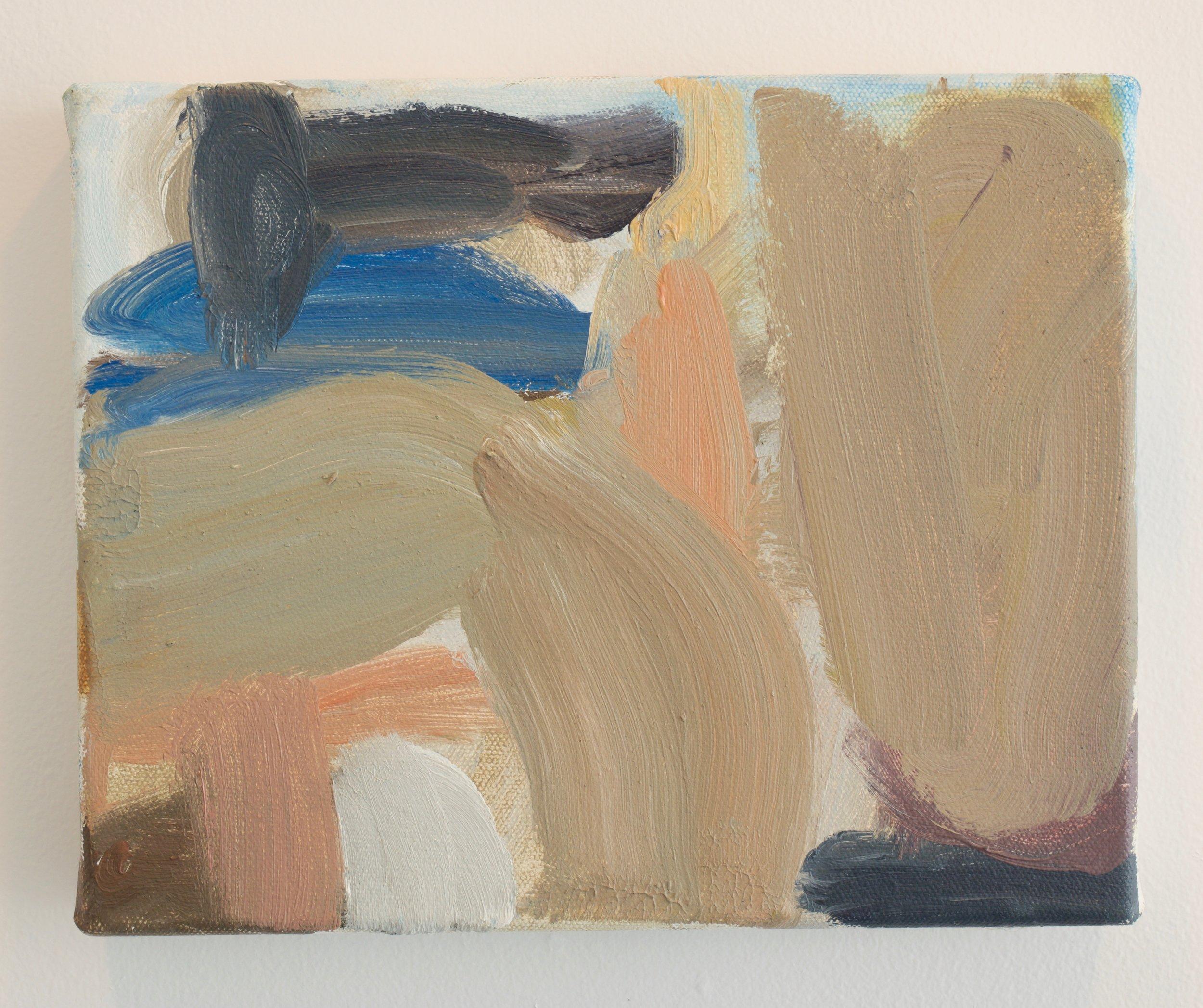 Virva Hinnemo, Ground Work, 2017. Oil on Canvas, 8 x 10 inches.