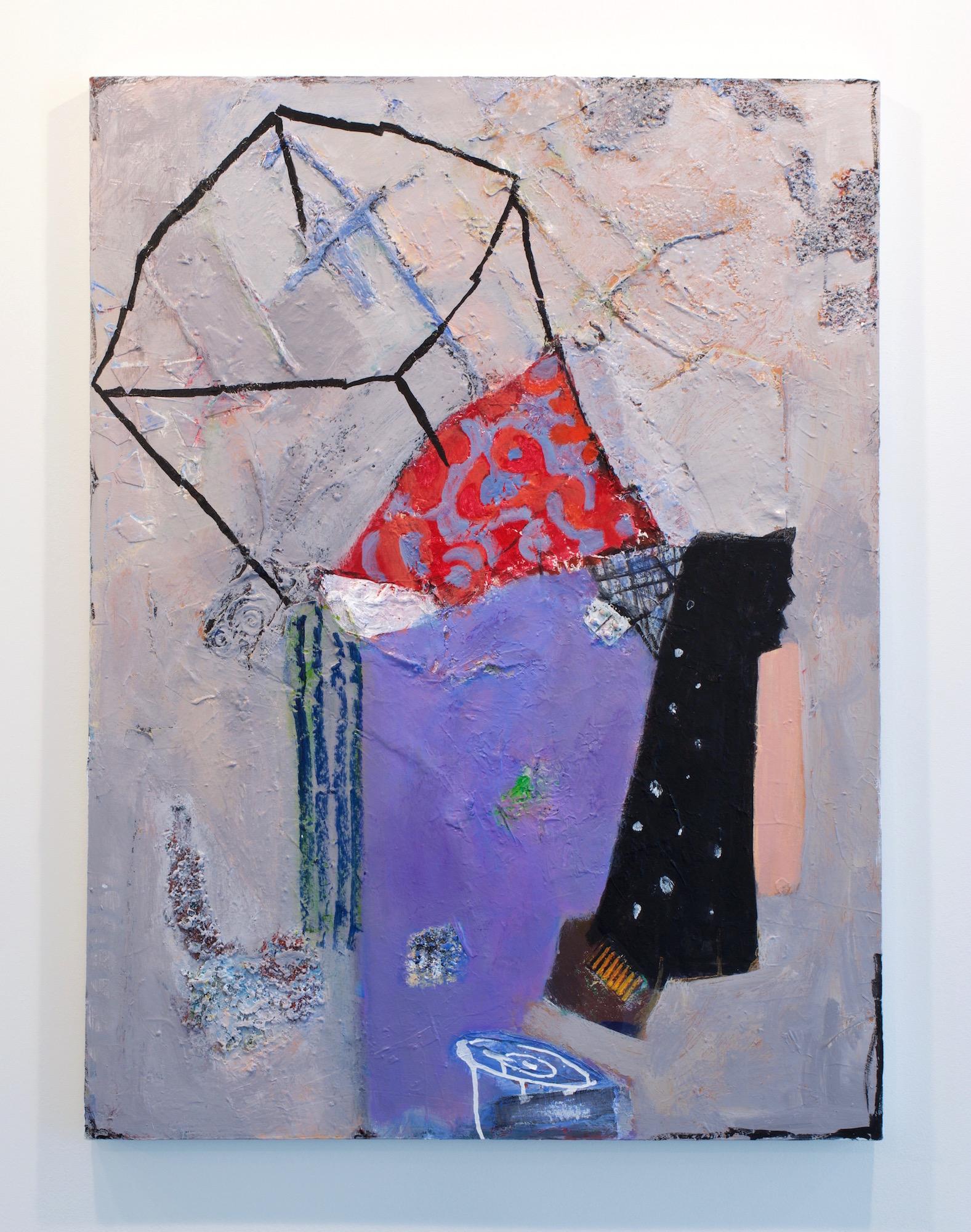 "Fukuko Harris, ""Resist"", 2017. Mixed Media on canvas, 40 x 30 inches"