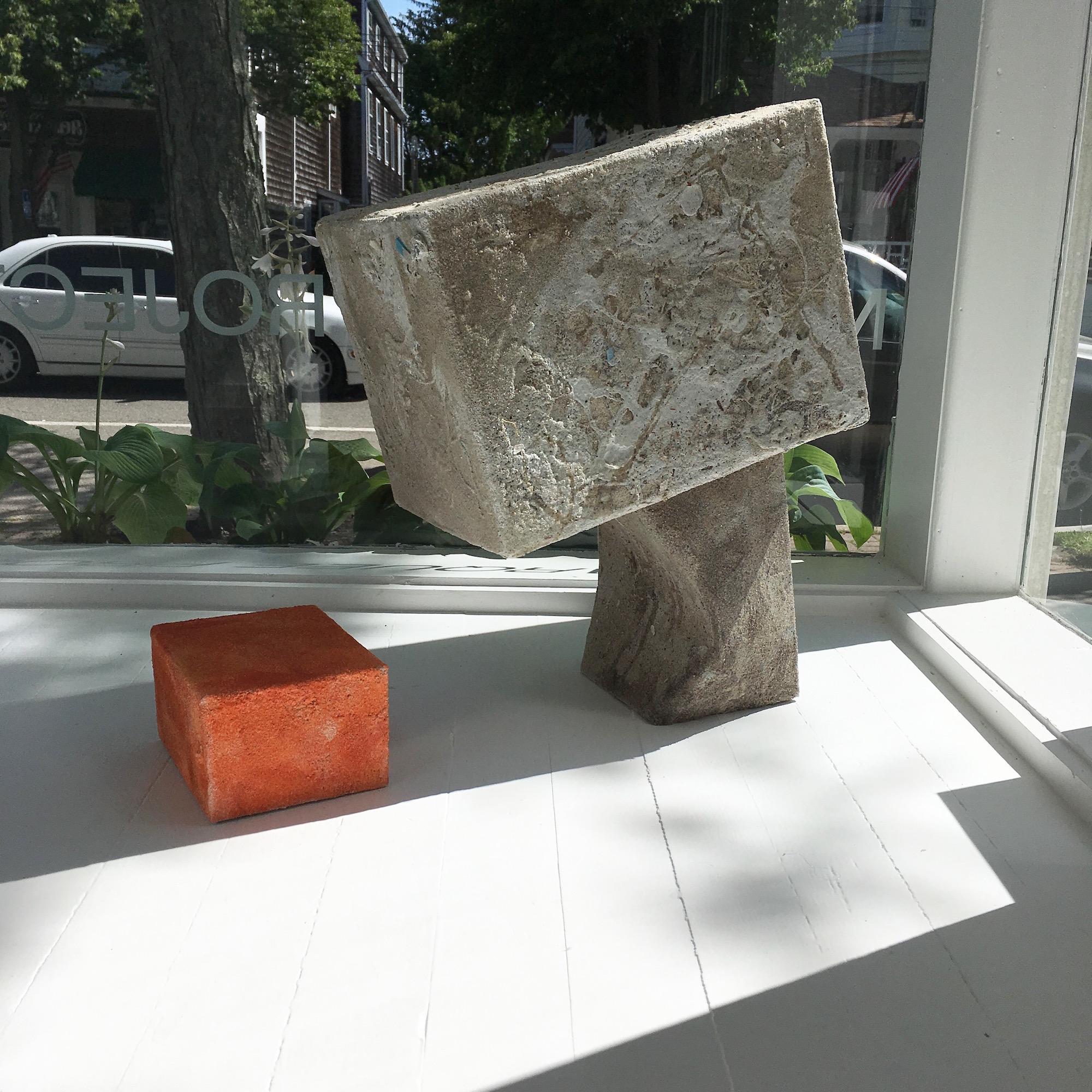 "Mark Van Wagner, ""Sandbox (code)"", 2017. Sand on cardboard, 16 x 24 x 12 inches (variable)"