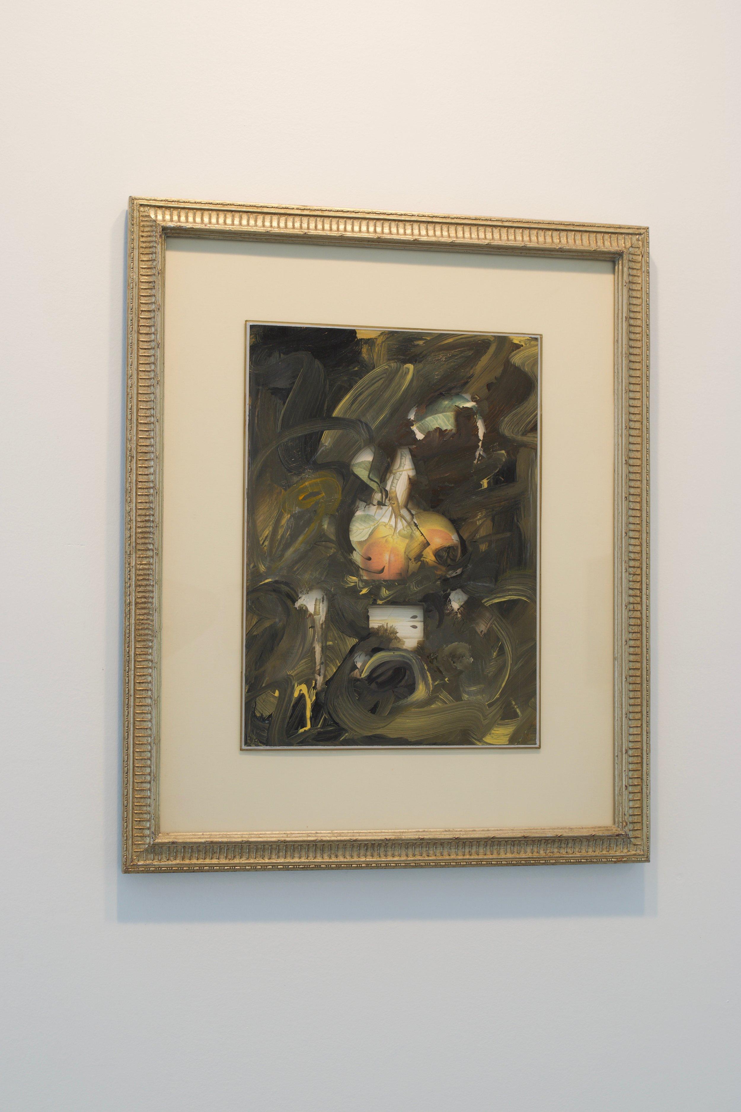 Mark Van Wagner, 2007. Acrylic on glass over botanical print, 22x18 in.