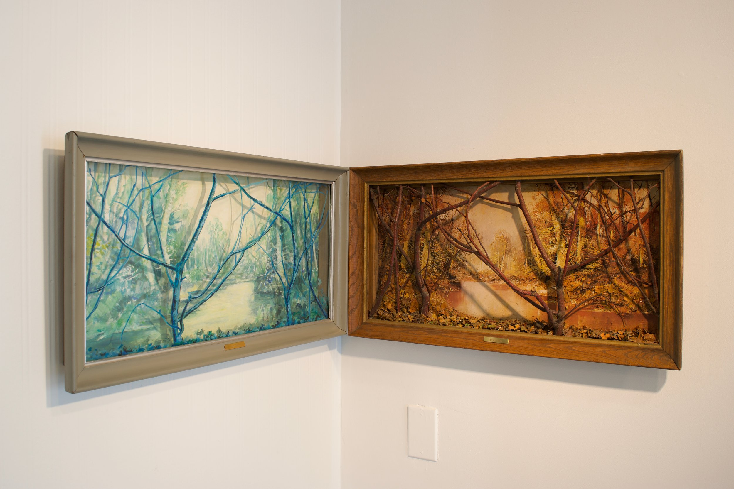 Mark Van Wagner, And There Between Here, 1989. Mixed media, 14 x 53 x 3 in.