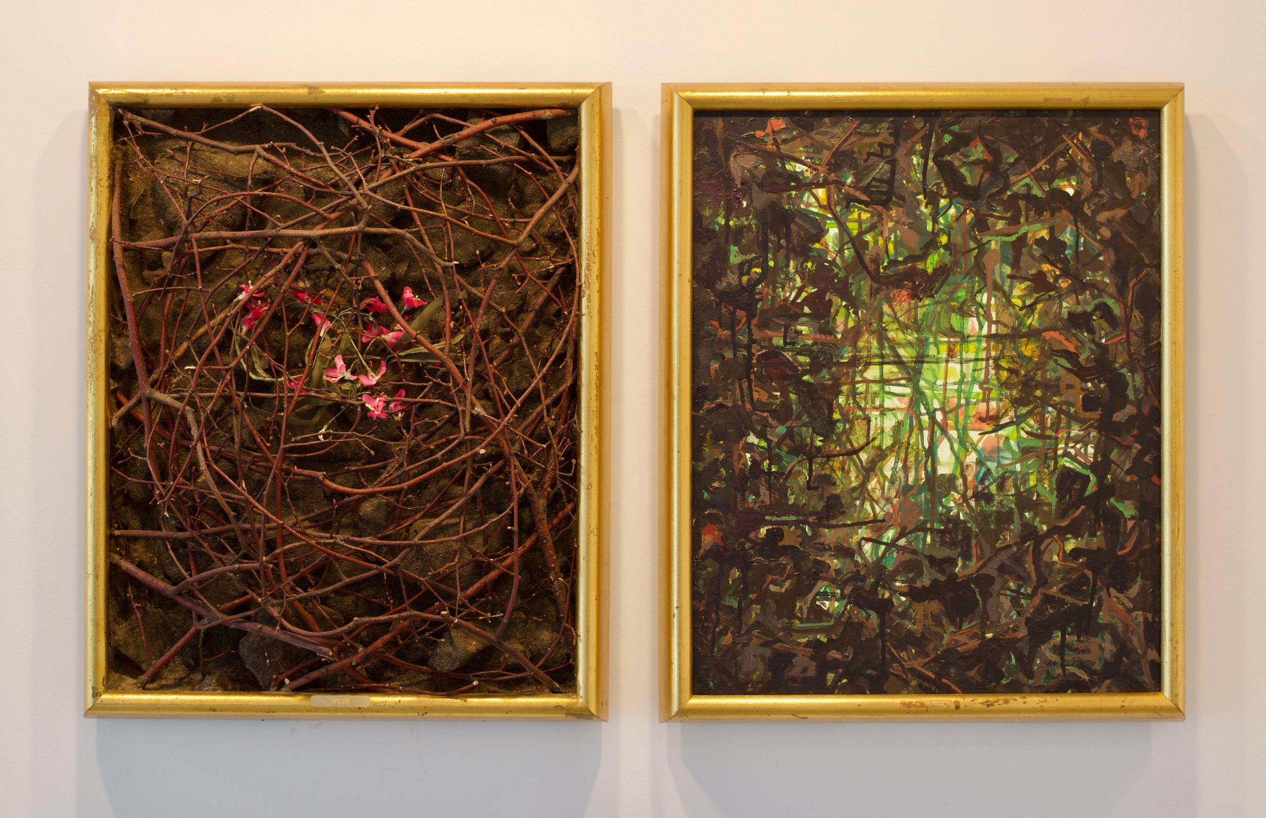 Mark Van Wagner, 1990. Below Above, mixed media, 21 x 38 in.