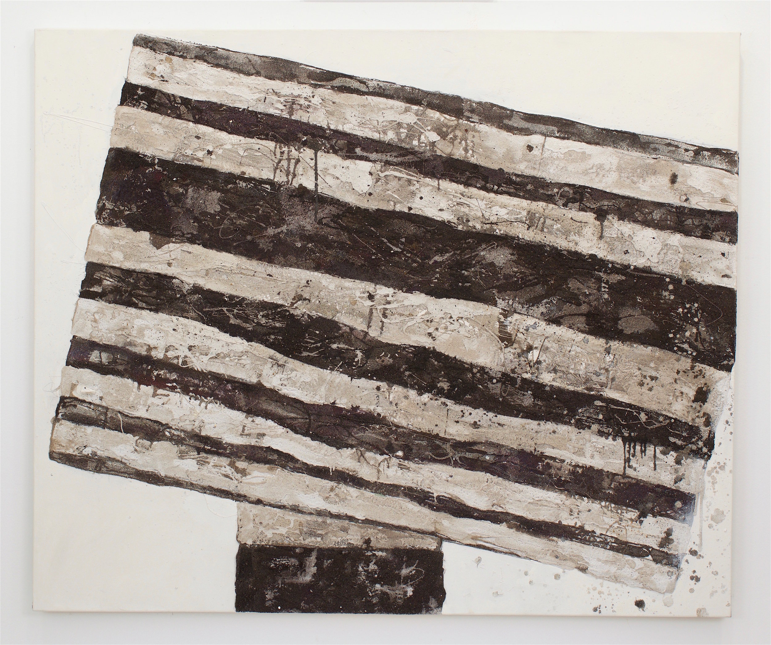 Mark Van Wagner, Forever in, Mate, 2016. Sand debris polymers gesso on canvas, 60x72 in.