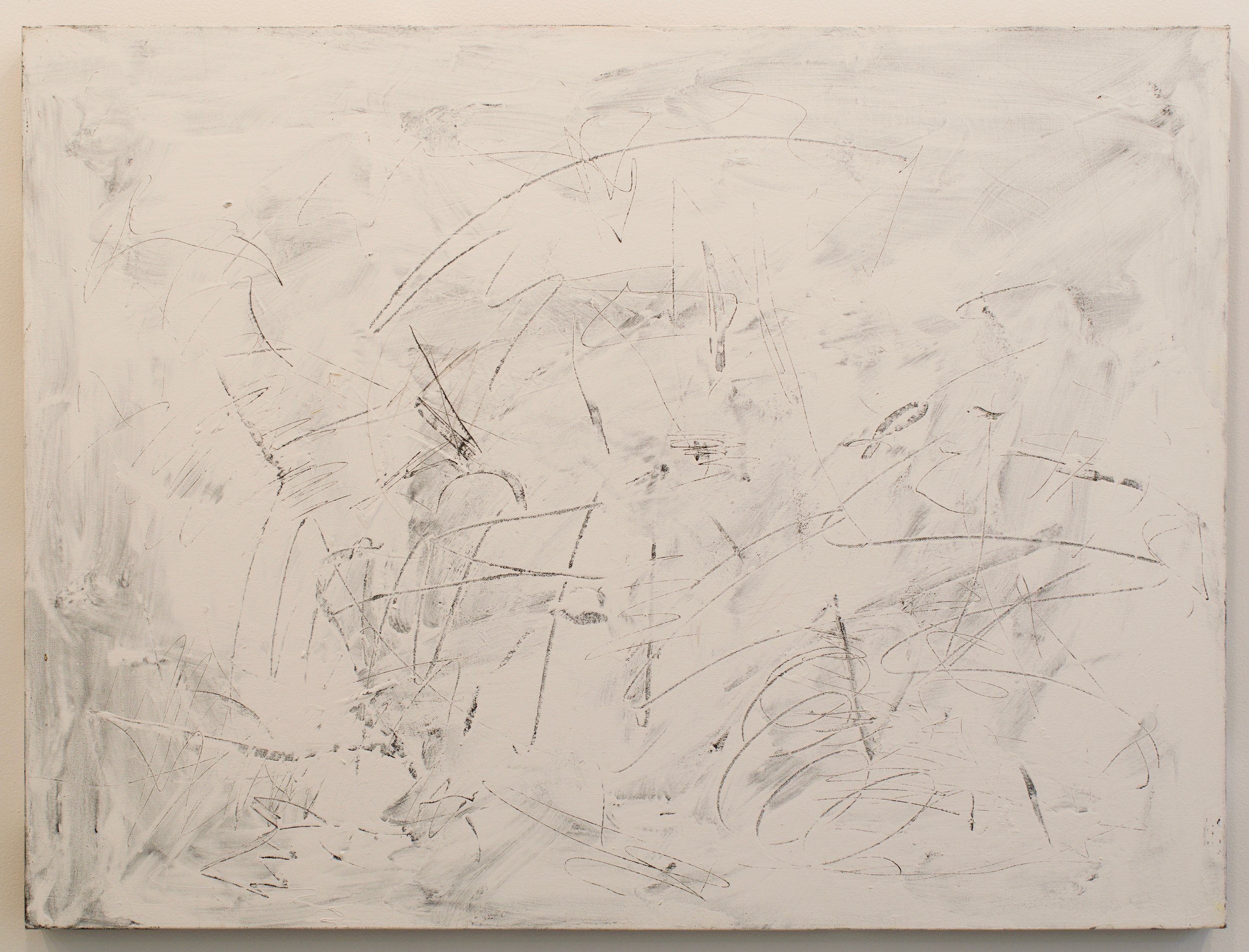 "John Perreault, ""Scratch Painting #5"", 2014. Acrylic on canvas. 30x40 in."