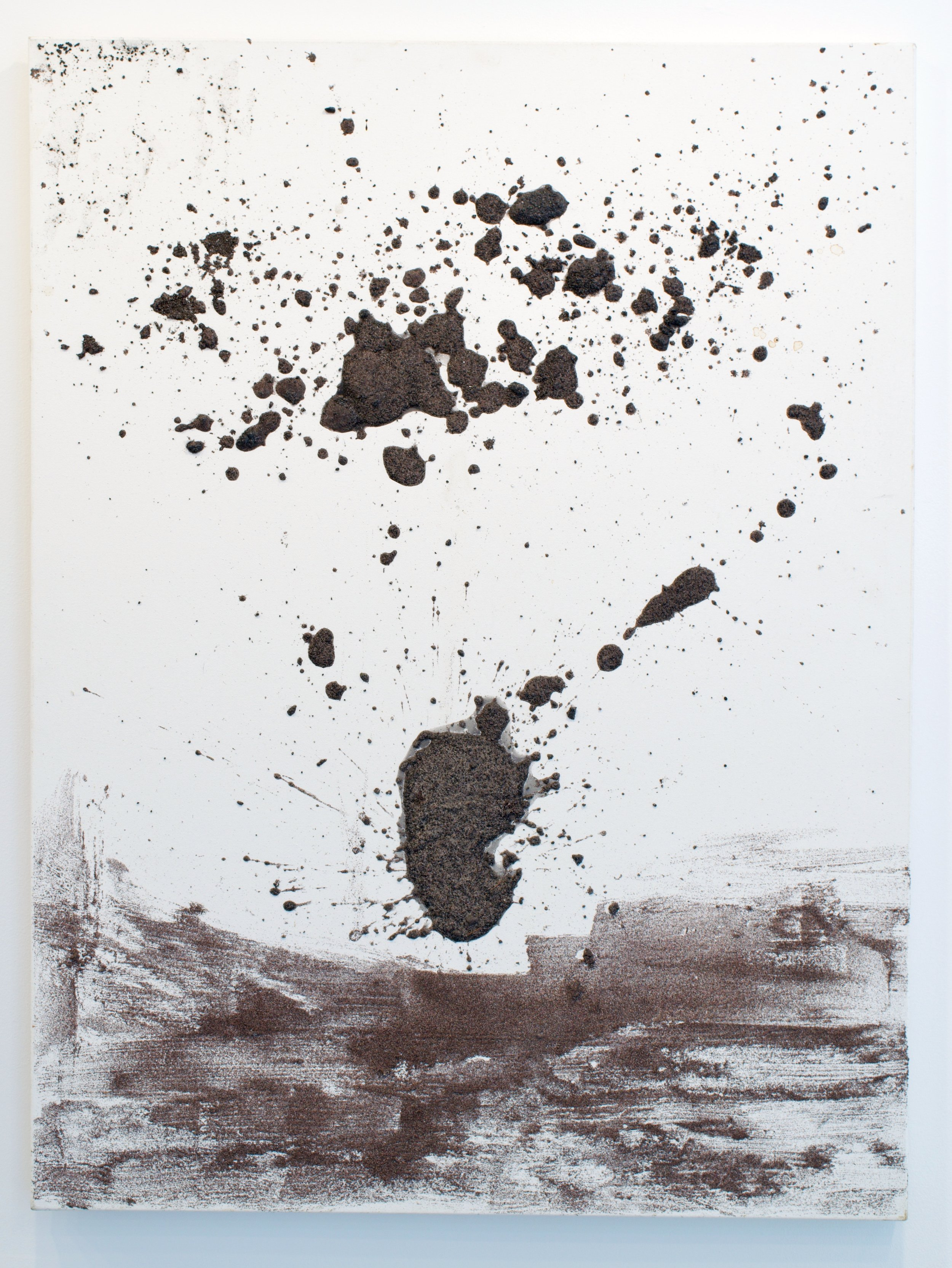 John Perreault, Untitled, 2014. Sand on canvas. 48x36 in.
