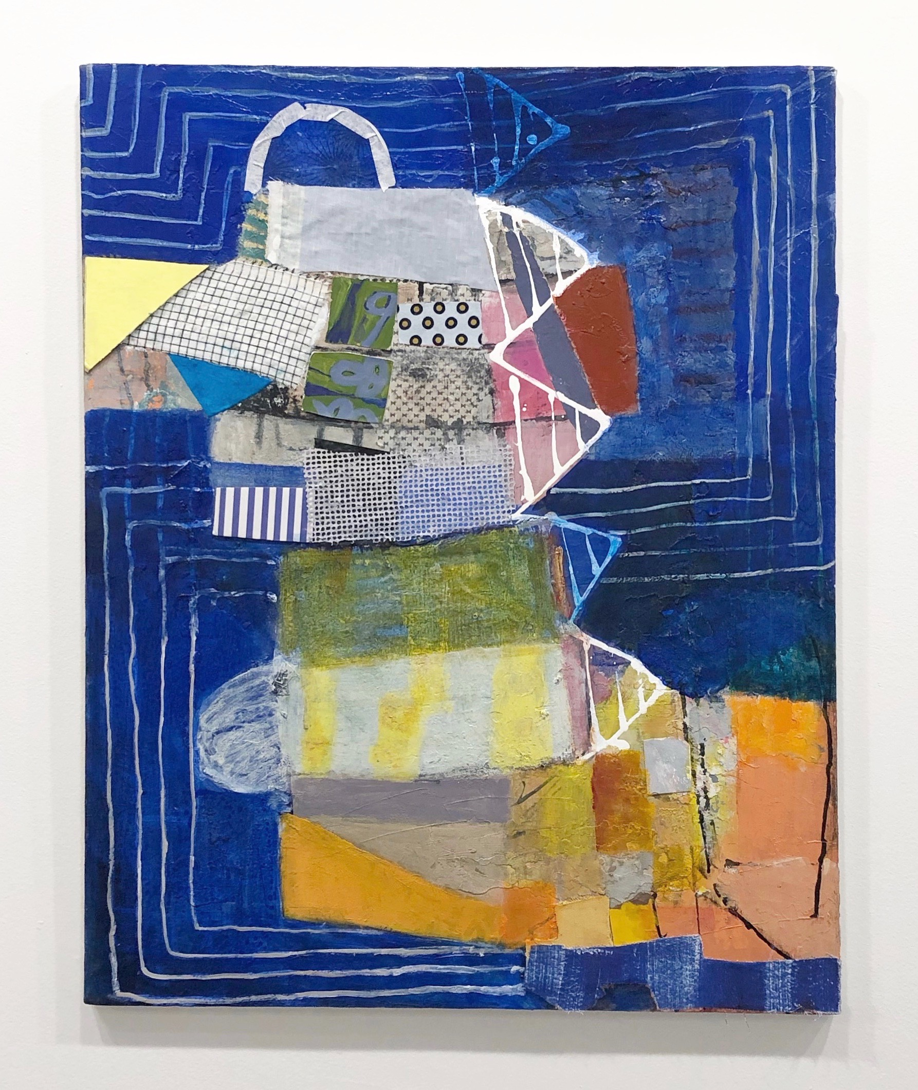 Collage on Canvas, 2018 Acrylic, paper and fabric on canvas 30x24 in