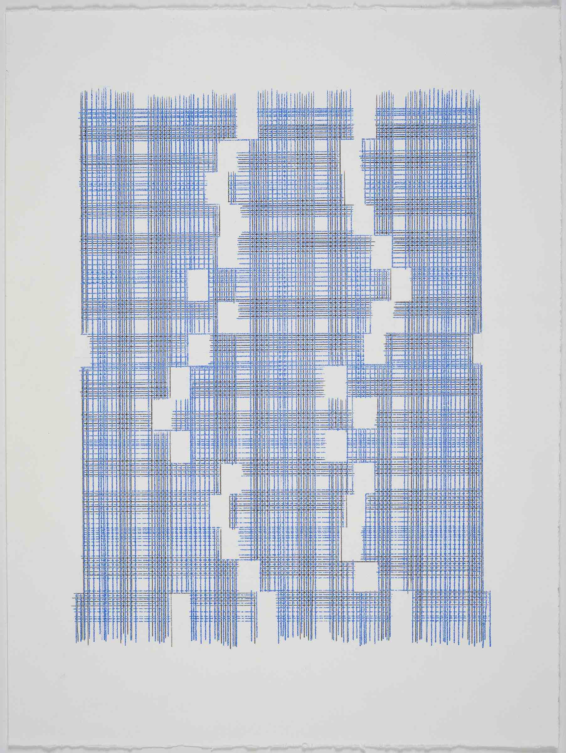 Seems Like Missing Mass (Plaid), 2018 Transfer Pigment on Paper 23x17.5 in (framed)