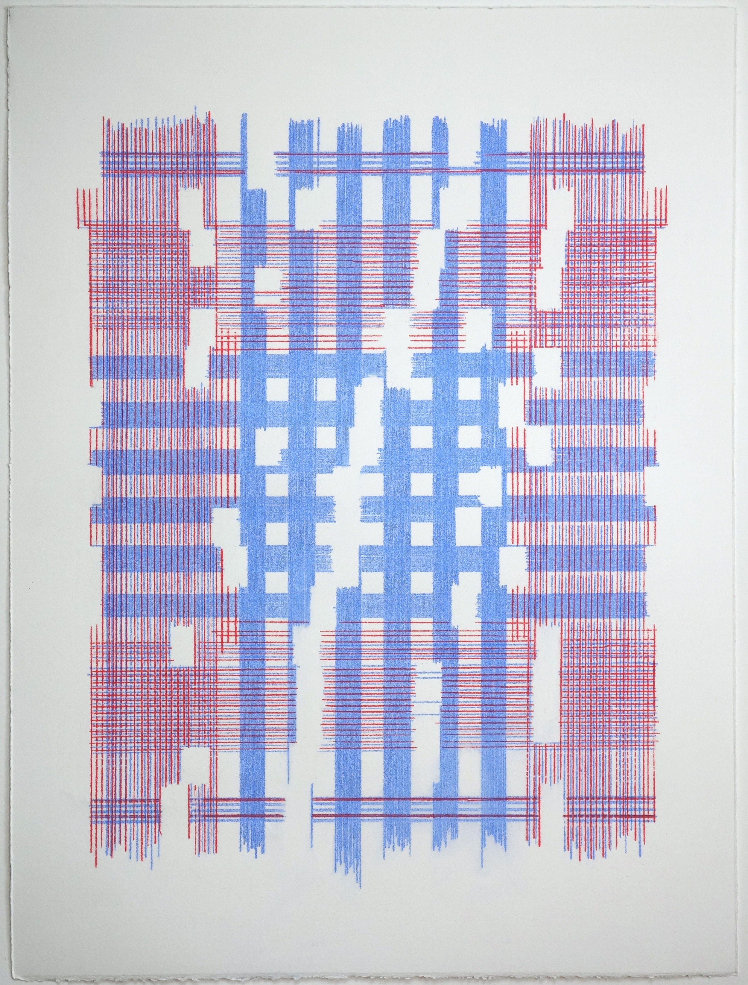 The Most Mysterious Fact (Plaid), 2018 Transfer pigment on paper 23x17.5 in (framed)