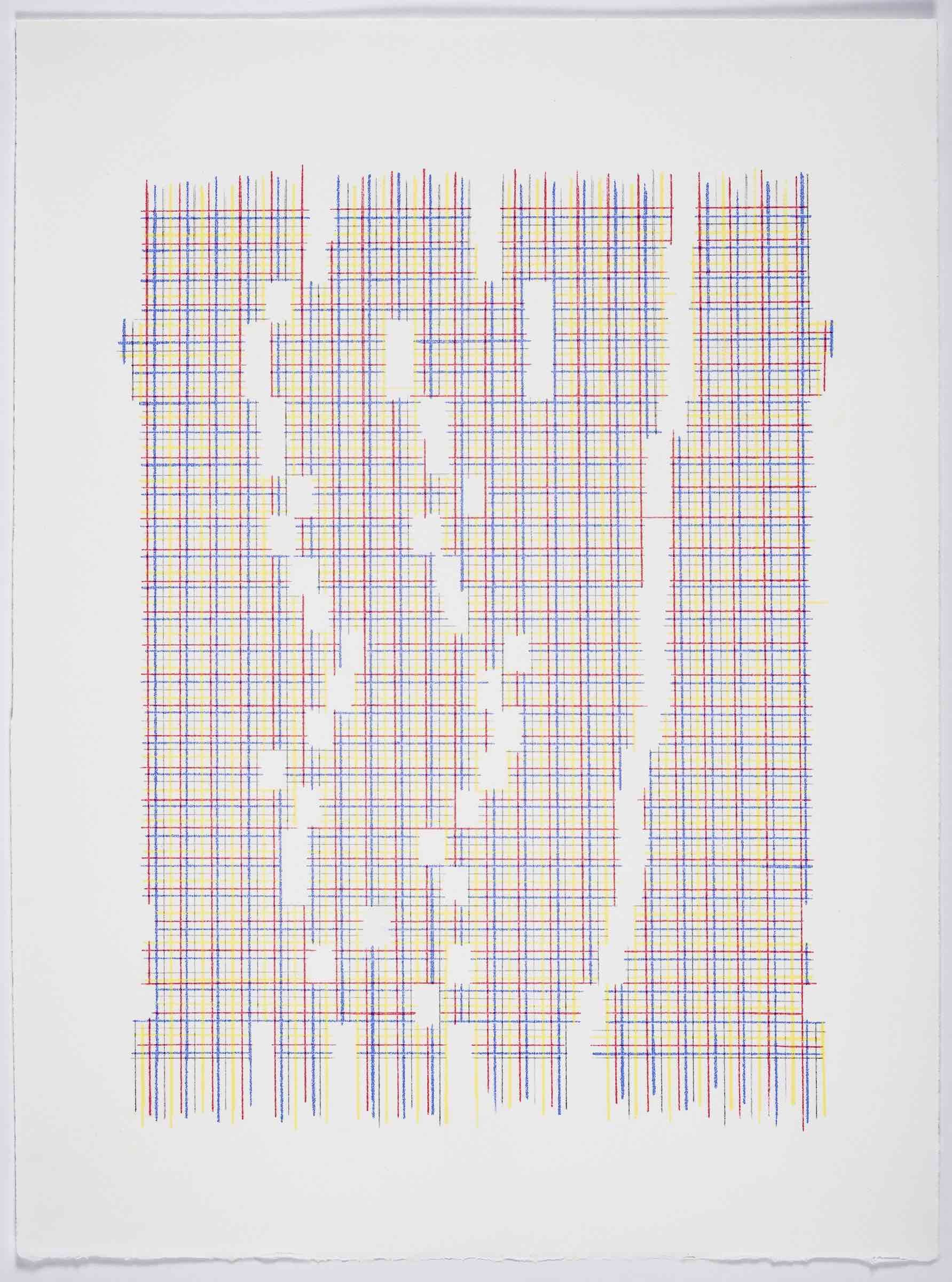 Maybe We Just Don't Understand (Plaid), 2019 Transfer pigment on paper;  23x17.5  in (framed)