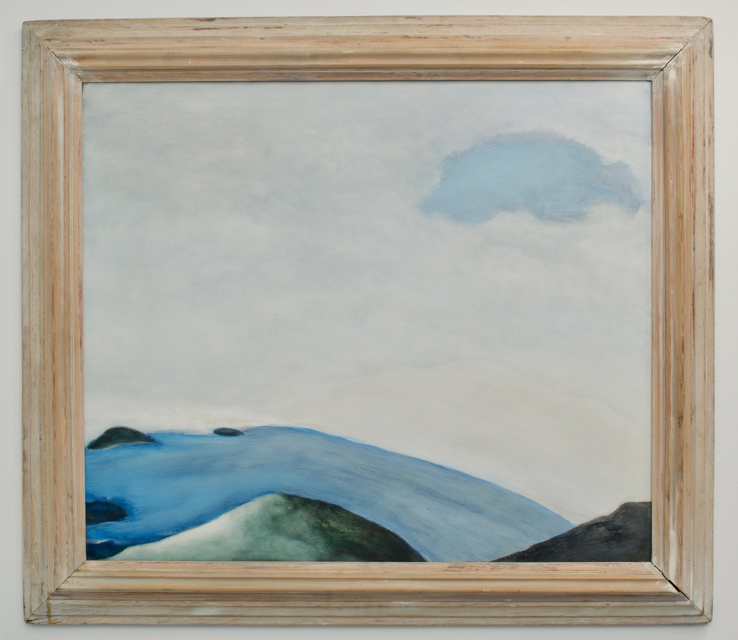 Tim Hoffman, Winter Wall, 1995. Oil on panel, 35 x 30 inches (framed).