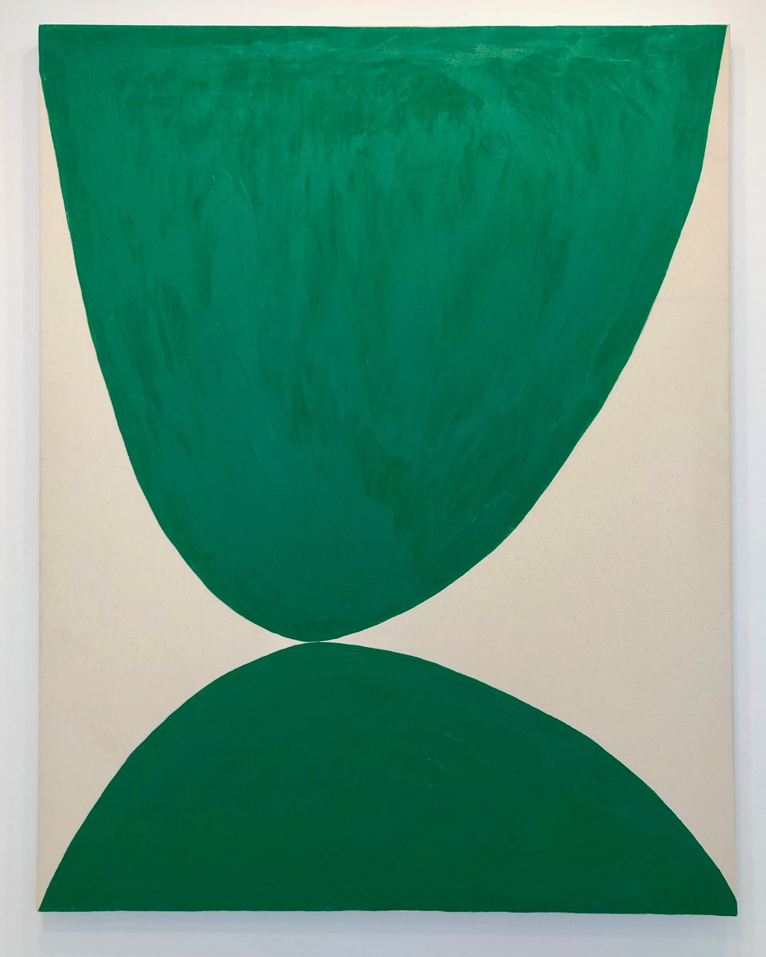 Fabian L Bernal, Untitled Green, 2016. Acrylic on untreated canvas, 50 x 39 inches.