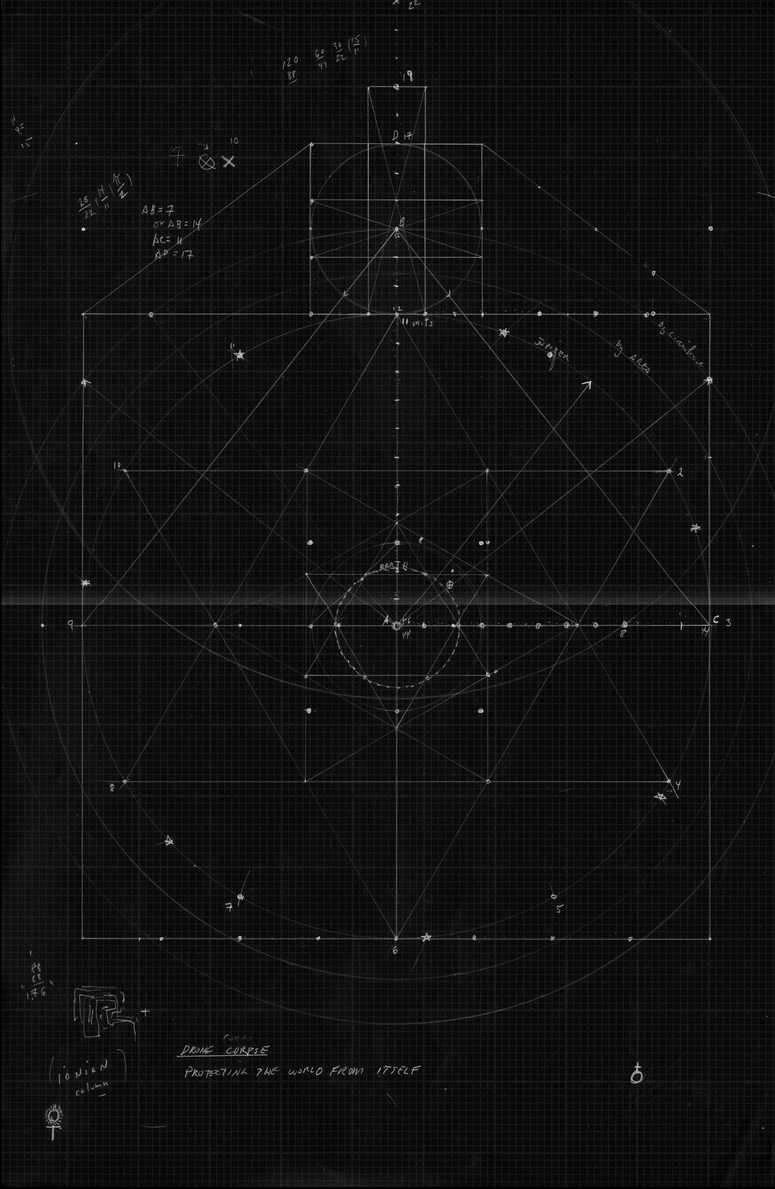 Ana-Khronic Guidance System, 2019. Inkjet print, 20 x 13.5 in (framed)