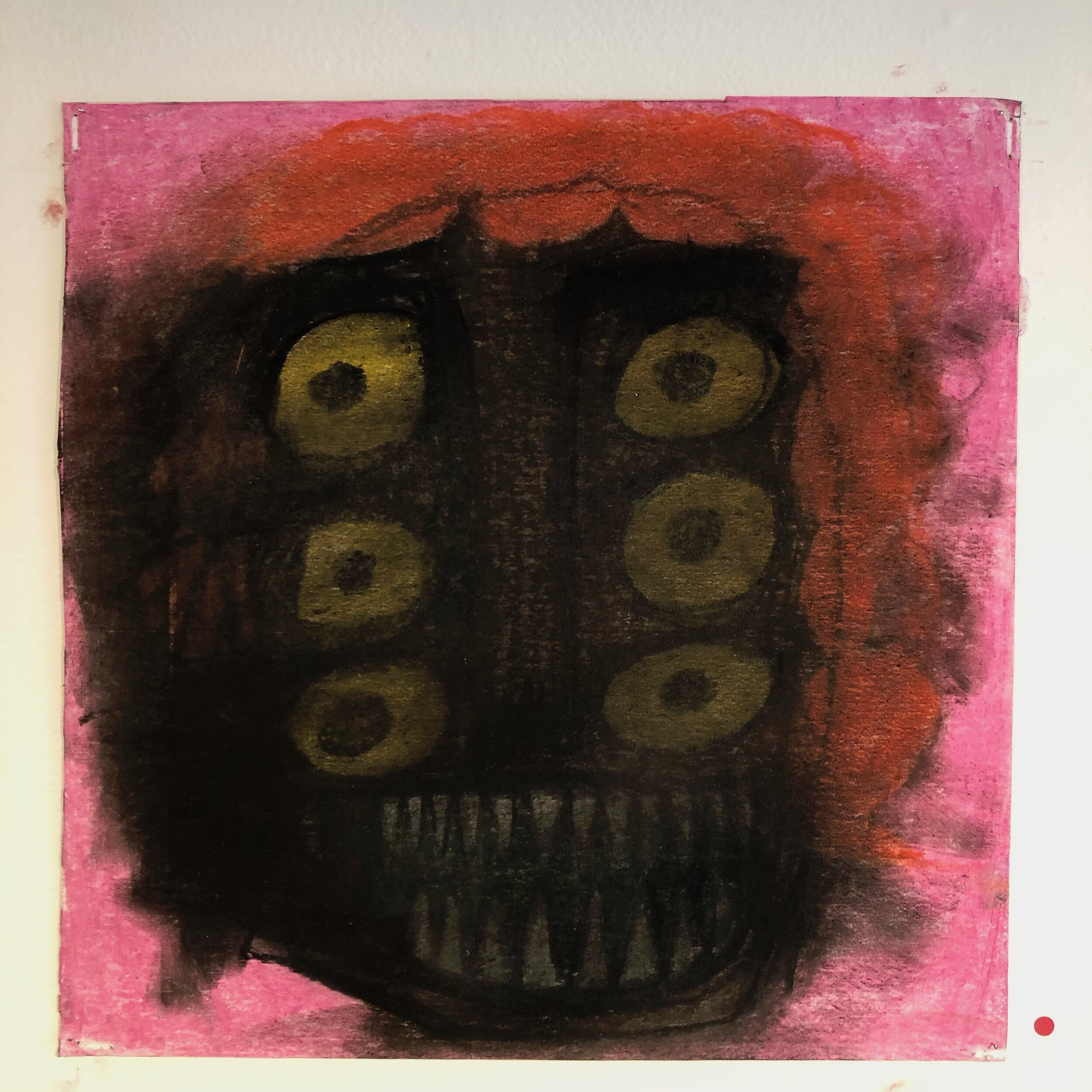 Untitled, oil pastel on cardboard, 12x12 in.