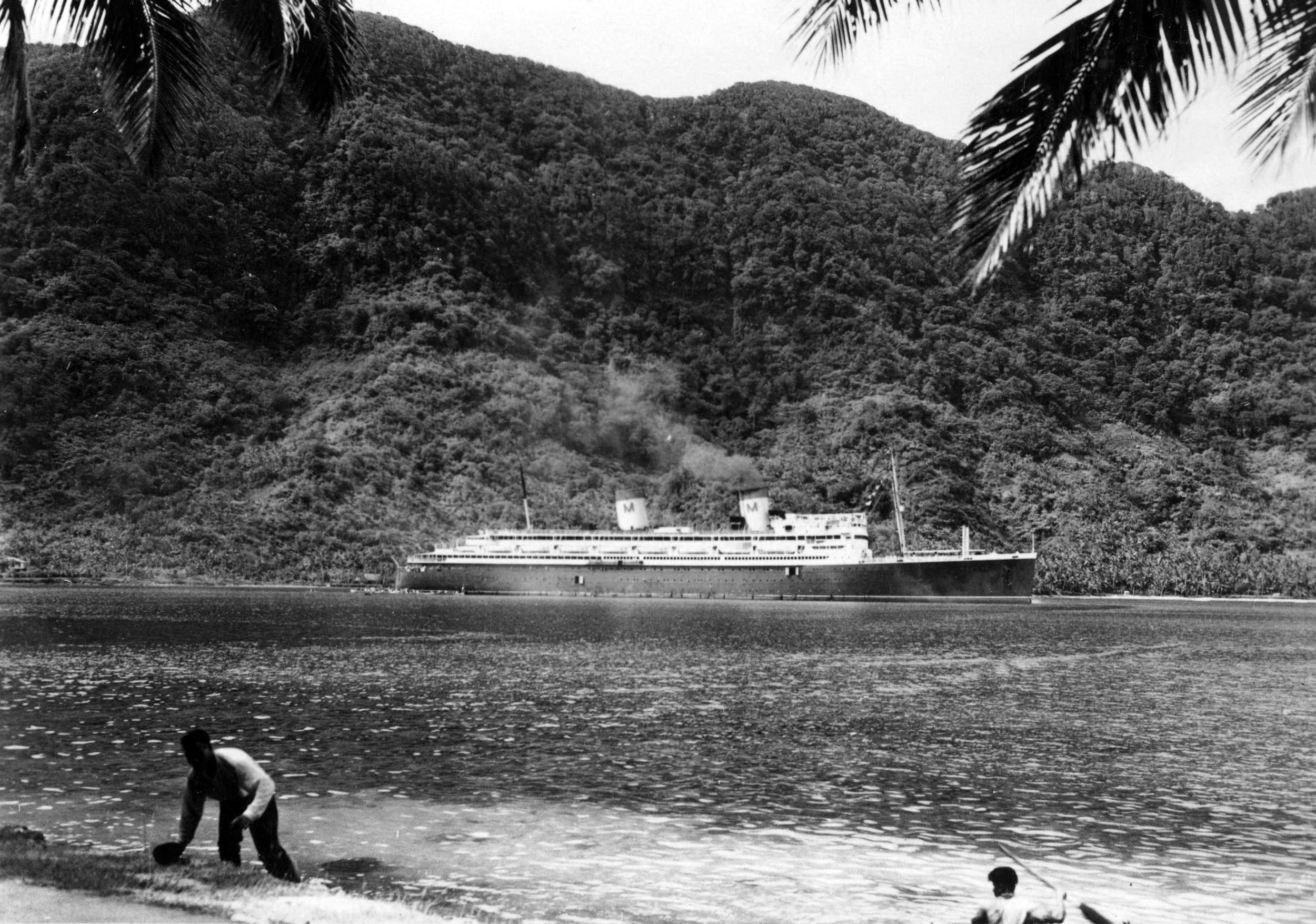 The SS Malolo in Pago Pago