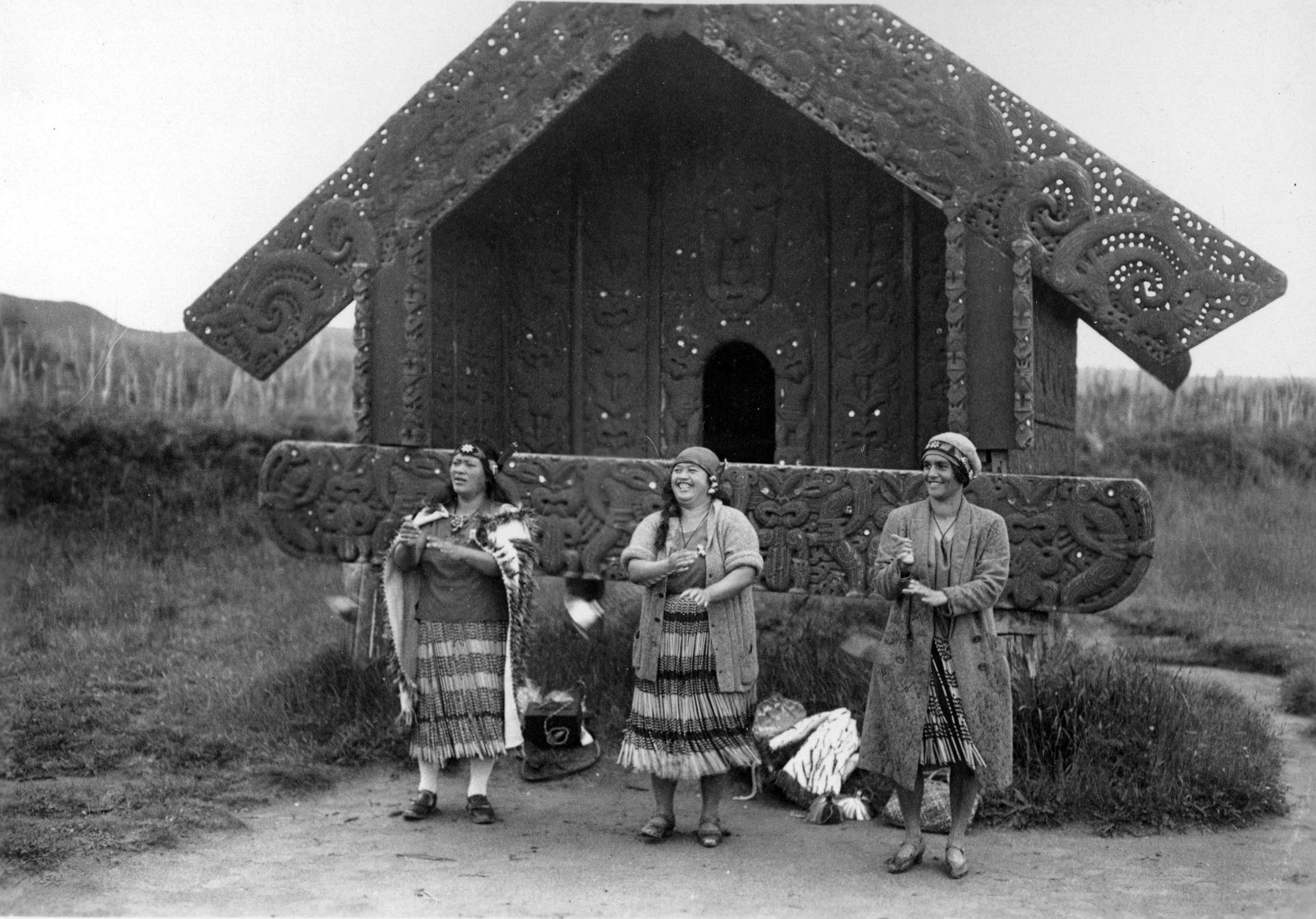 Three Maori Dancers