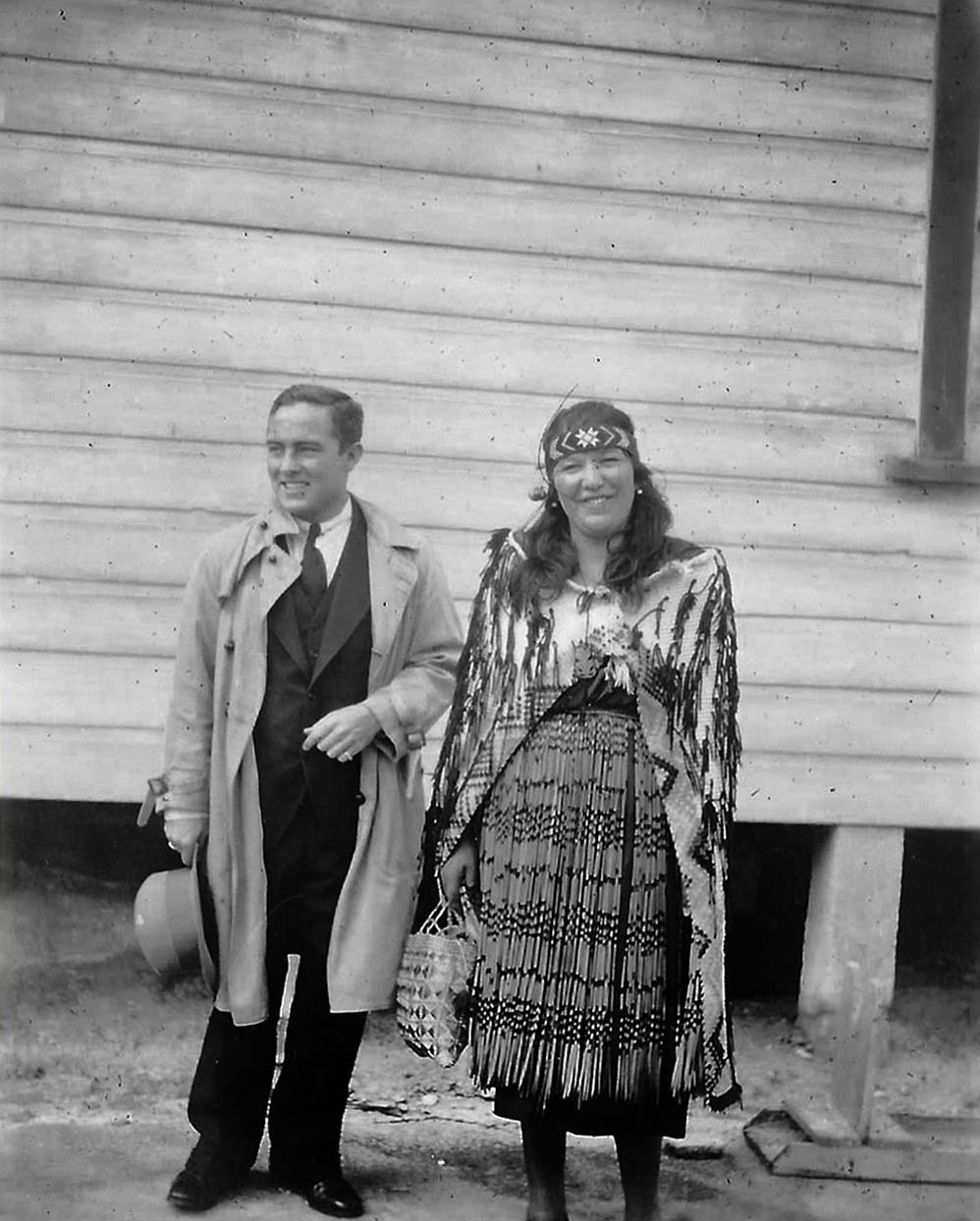 Jack Mulcahay and Maori Guide