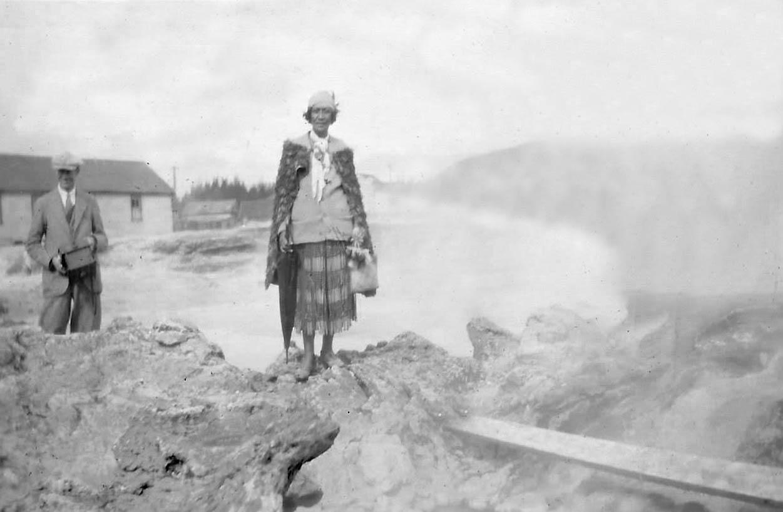Guide Eileen in Whaka Village