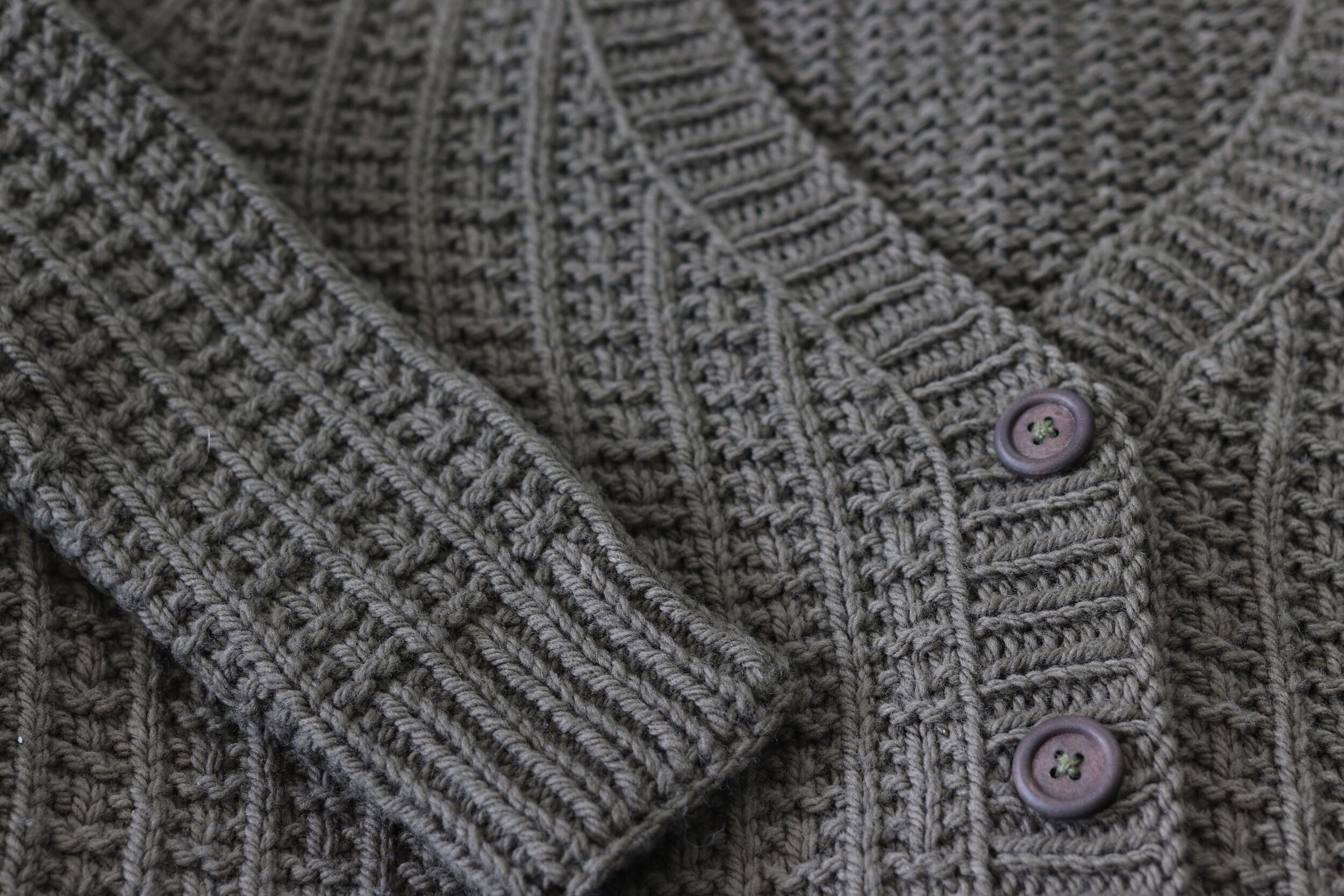 Molsa Cardigan - Knit with Quince & Co Osprey in Root