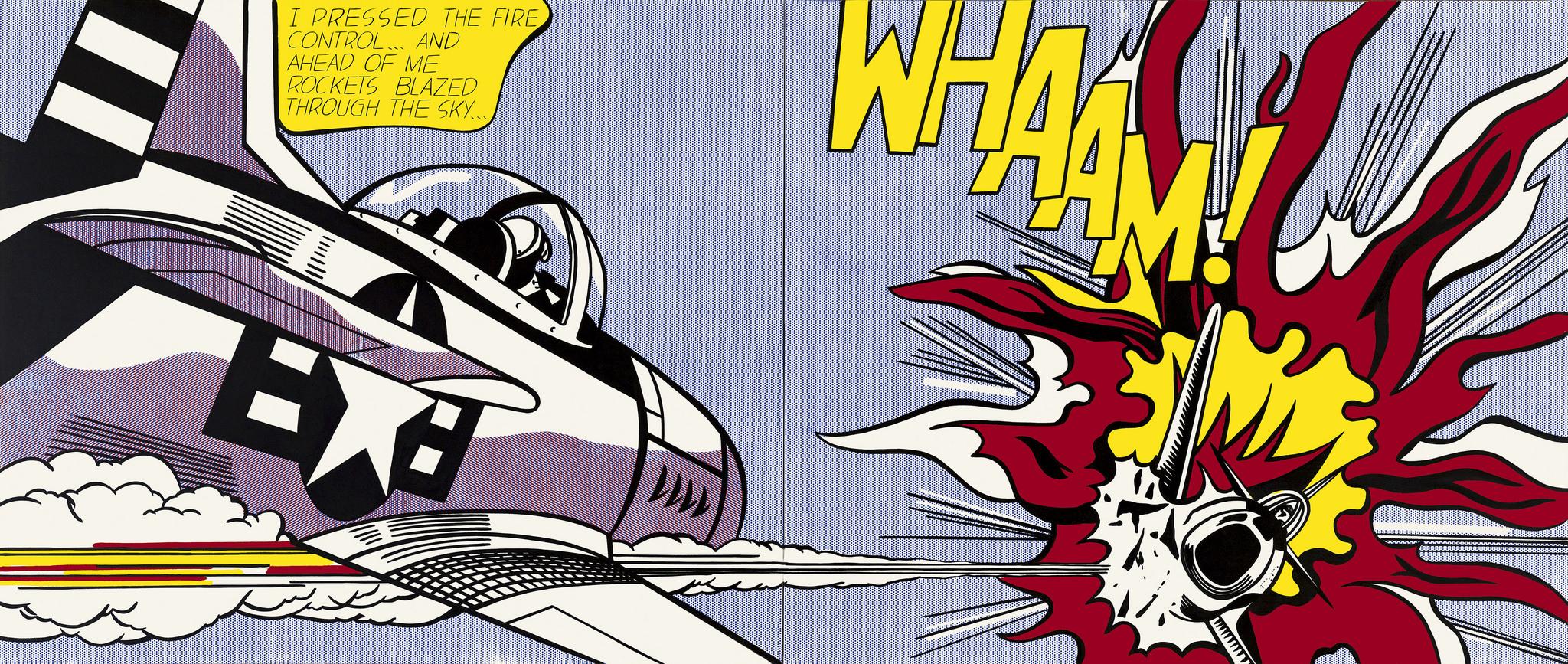 """Roy Lichtenstein's """"WHAAM!"""" painting."""