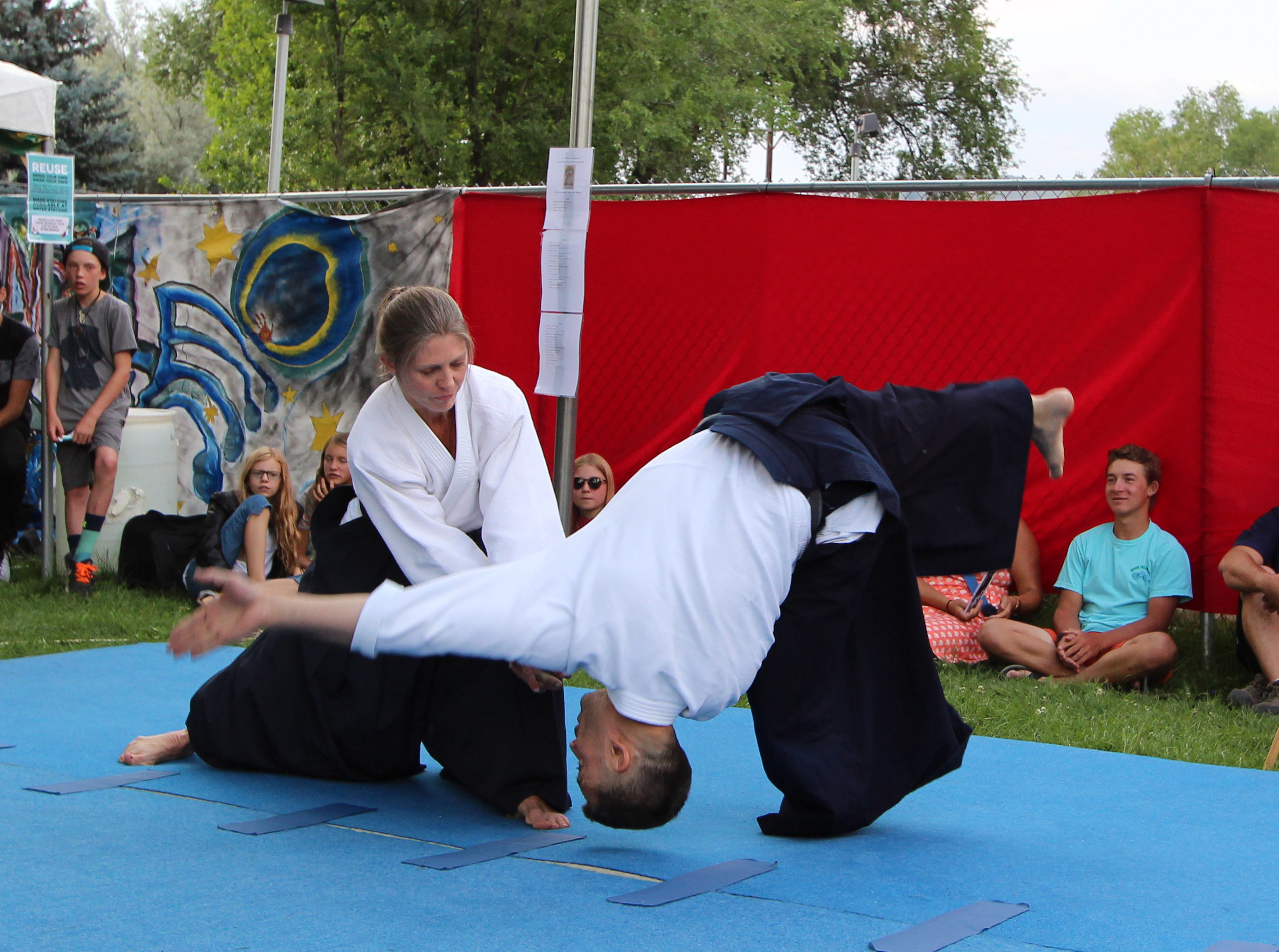 Aikido Demonstration - Carbondale Mountain Fair, July 27, 2018